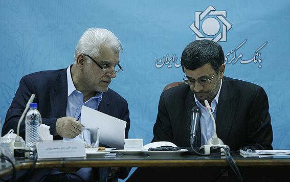 احمدی نژاد عملکرد بانک مرکزی و رشد اقتصادی کشور را مثبت ارزیابی کرد