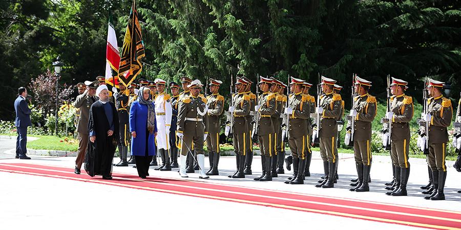 استقبال رسمی دکتر روحانی از رییس جمهوری کرواسی