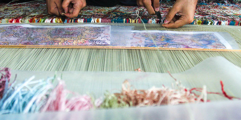 سالانه یک هزار و 500 متر مربع فرش دستباف در استان تولید میشود