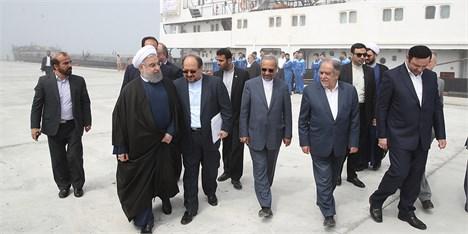 افتتاح مجتمع بندری کاسپین و آغاز عملیات ساخت اسکله مارینا و بزرگترین آکواریوم ایران