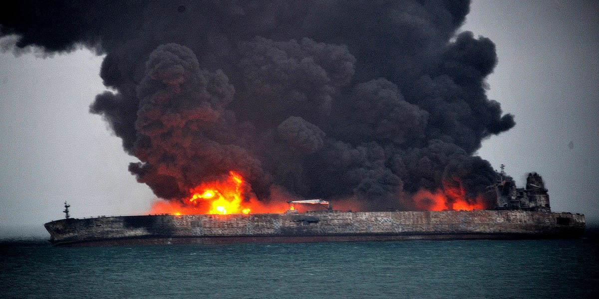 آلودگی نفتی سانچی احتمالا به سواحل ژاپن رسیده است