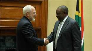 دیدار ظریف با رییس جمهوری آفریقای جنوبی