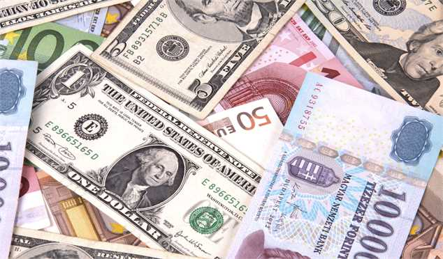 بهای انواع ارز در بازار پنجشنبه ۱۴ تیر