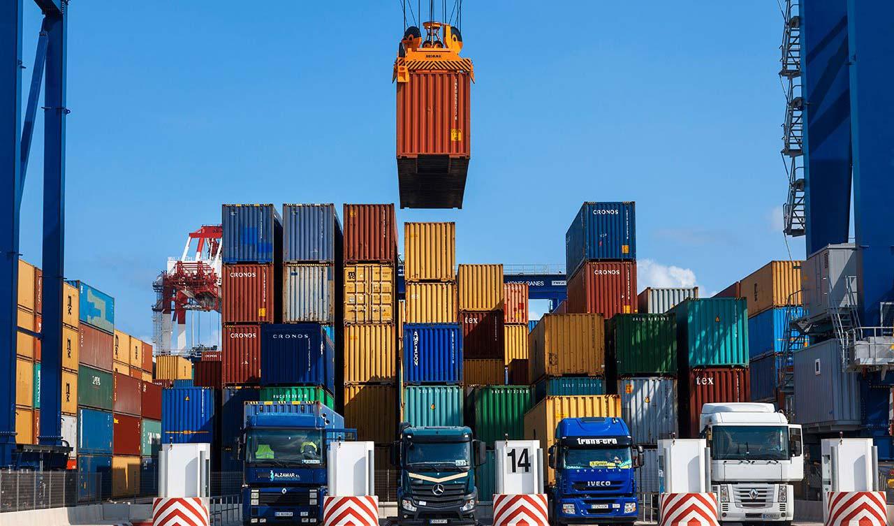 صادرات ۱۰۷ میلیون تن کالا در سال ۹۷