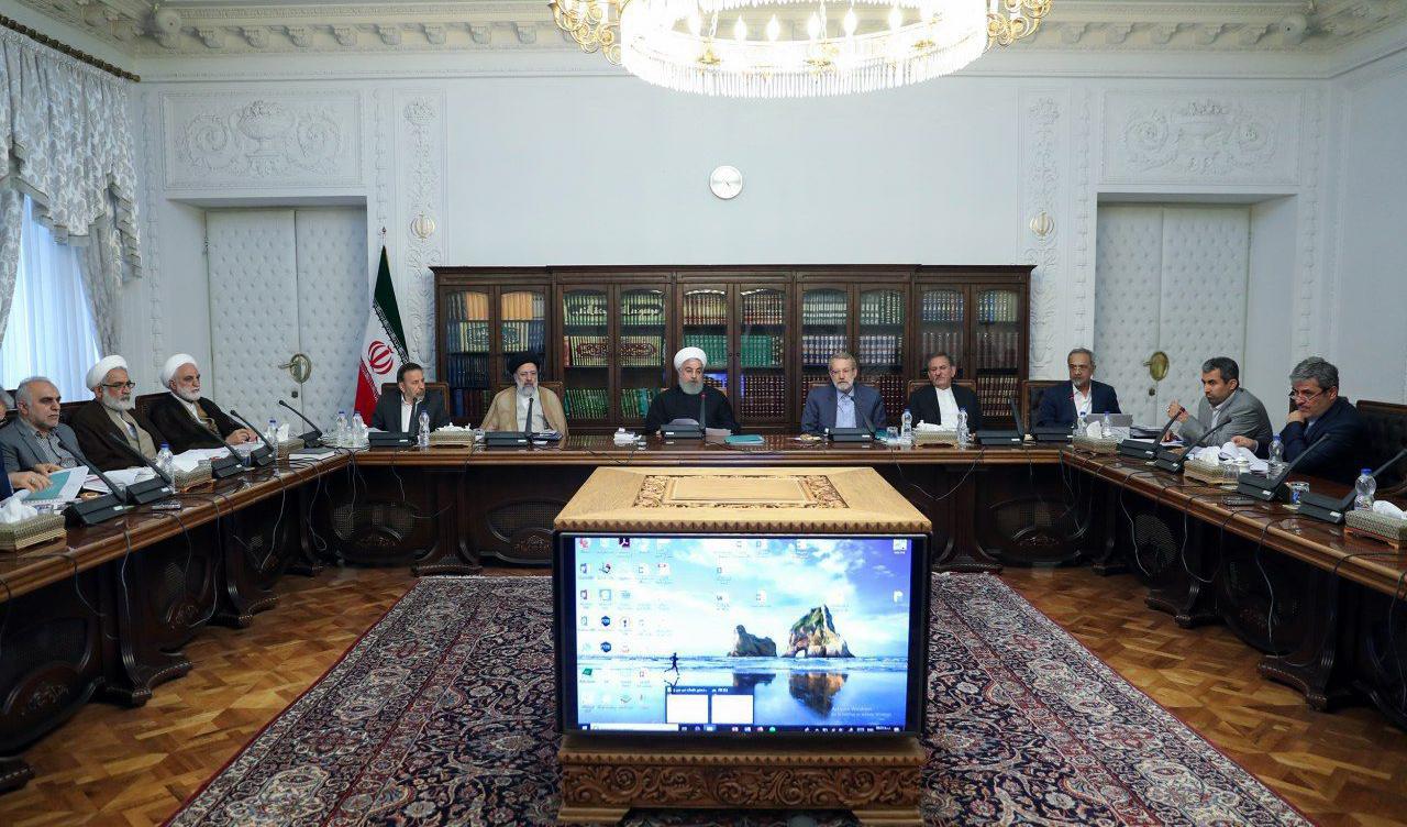 ارائه گزارش اصلاح ساختار بودجه به رئیس جمهور در جلسه سران قوا