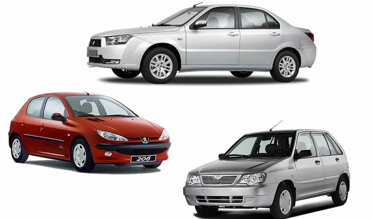 قیمت خودروهای داخلی/جدول