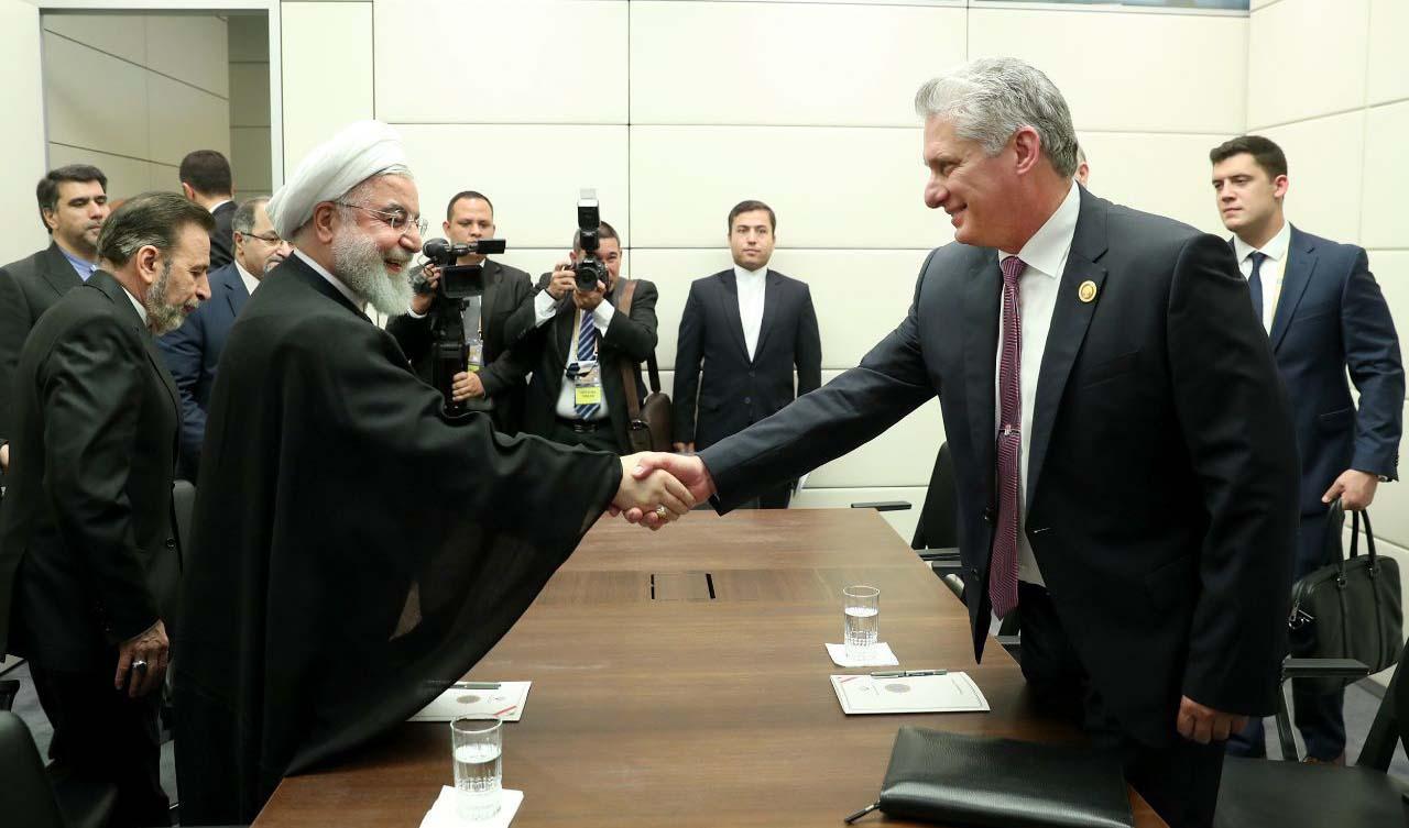 رایزنی روحانی با رئیسجمهور کوبا