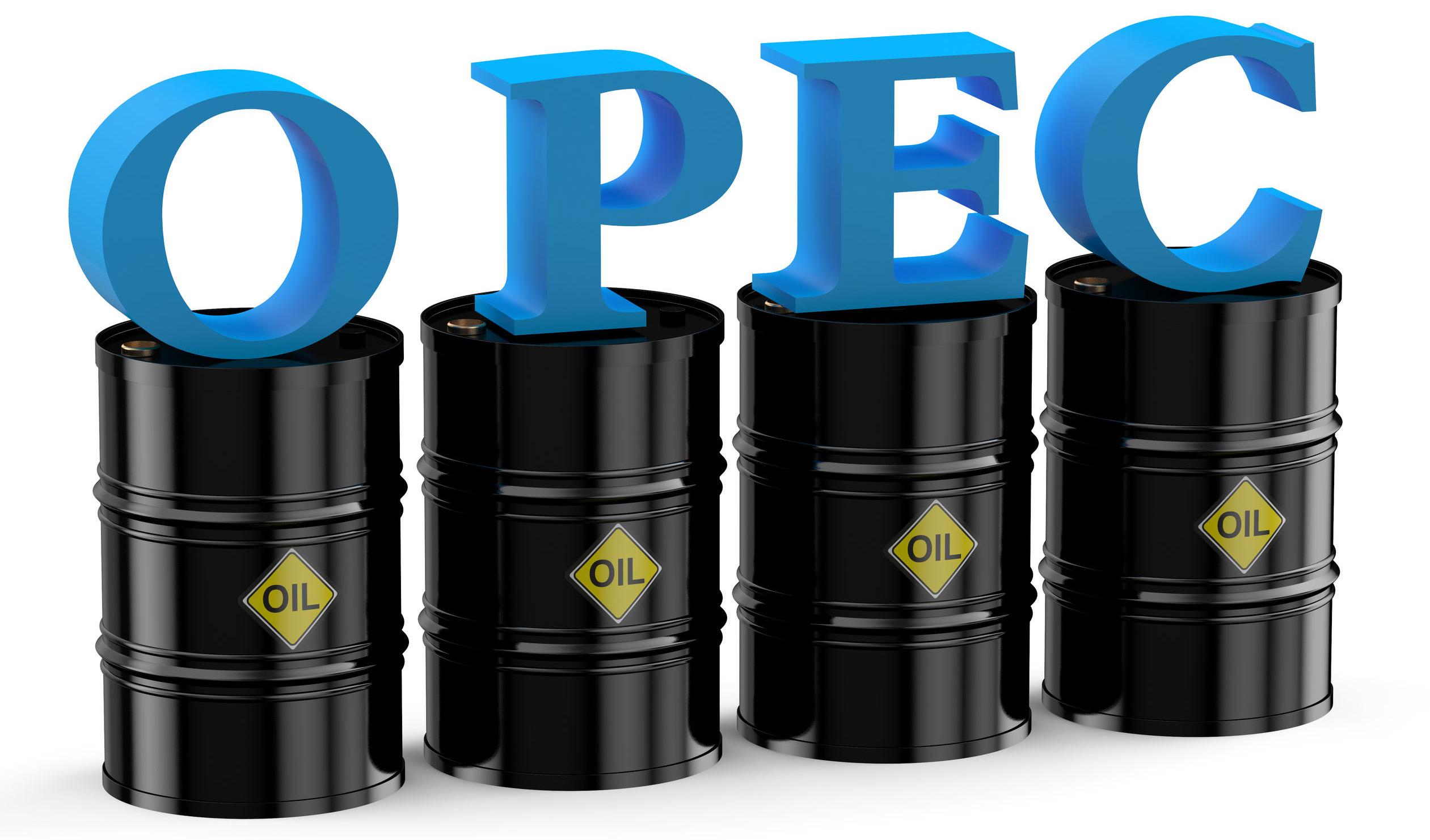 قیمت سبد نفتی اوپک در کانال ۵۵ دلار قرار گرفت