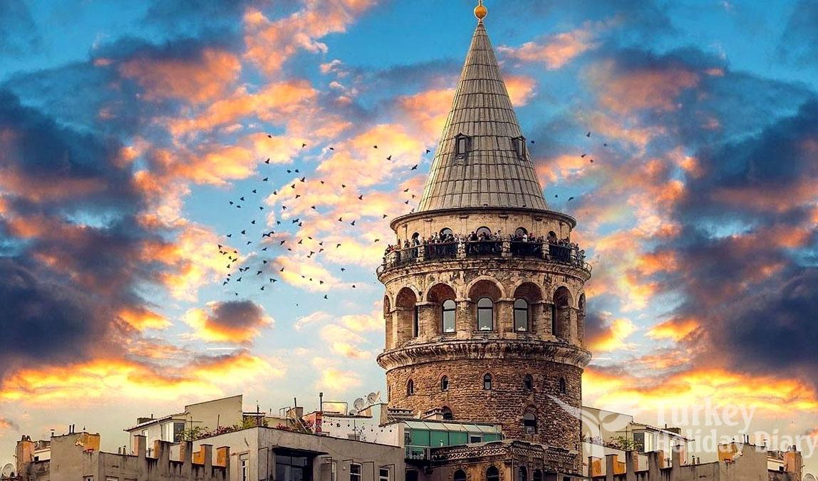 برج گالاتا استانبول در ترکیه