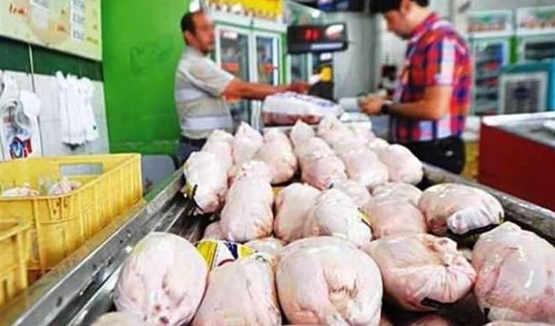 کاهش ١۵ هزار تومانی قیمت مرغ