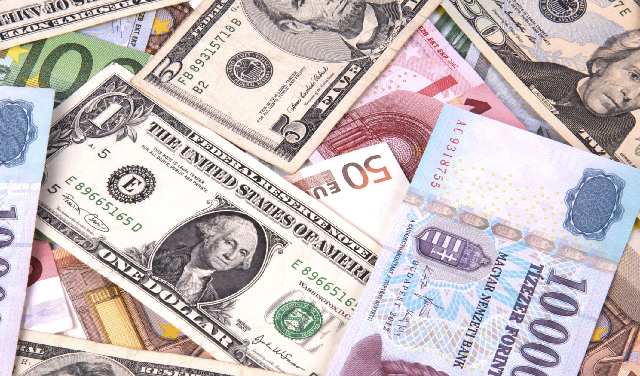 کاهش نرخ یورو، پوند و ۱۹ ارز رسمی