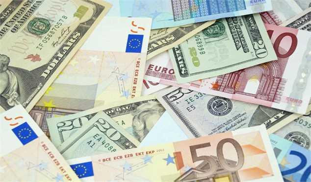 نرخ رسمی یورو و ۳۱ ارز دیگر کاهش یافت