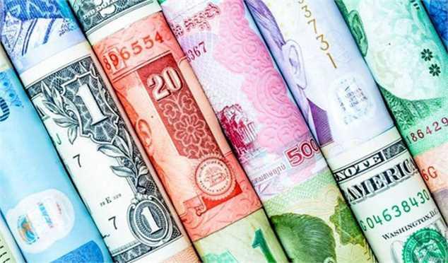 کاهش نرخ رسمی ۱۹ ارز در چهارمین روز هفته